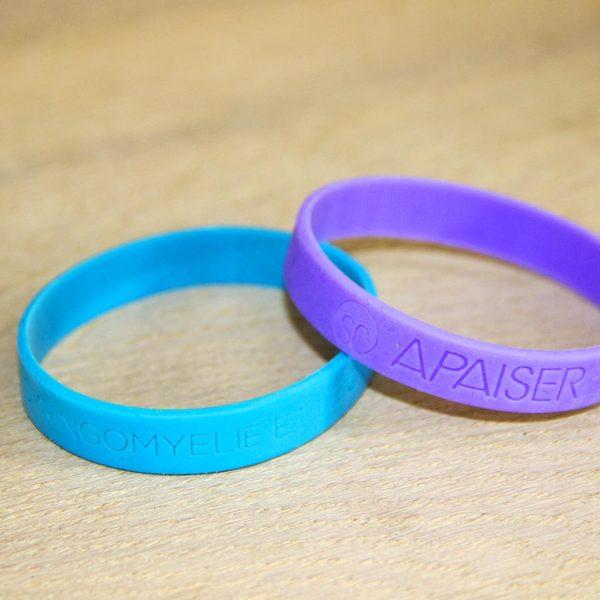Paire de bracelets bleu et violet APAISER S&C
