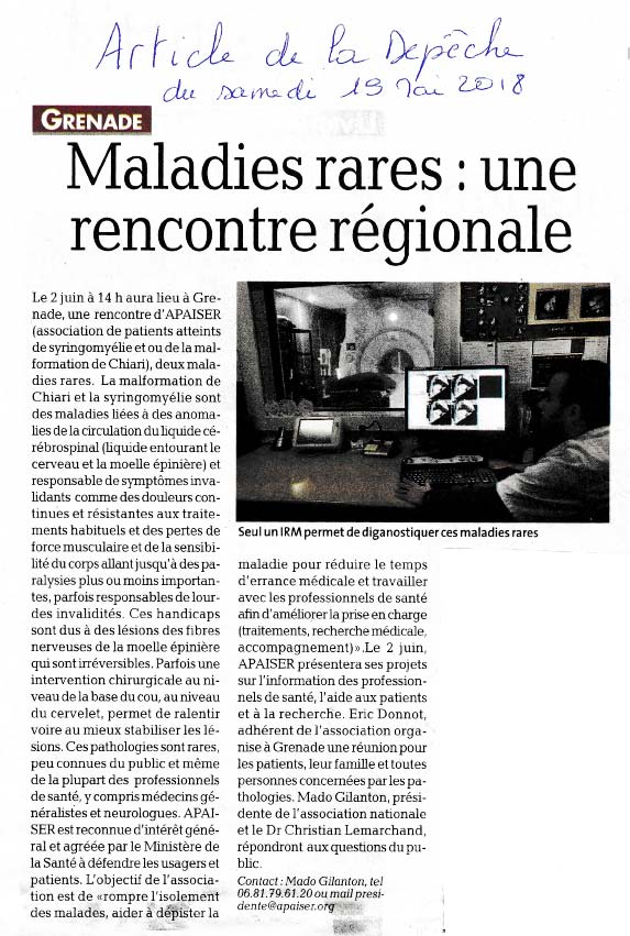 Rencontre régionale Apaiser S&C Occitanie, Grenade, 2018