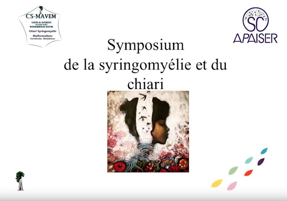 Ouverture symposium Apaiser novembre 2017, malformation de chiari, syringomyélie