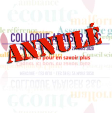 Annulé - Colloque Apaiser S&C 2020